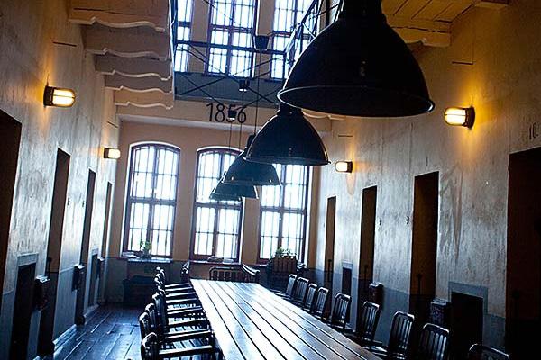 En av många konferensrum - i ett gammal fängelse av amerikansk typ förlagd på anrika Varbergs fästning.